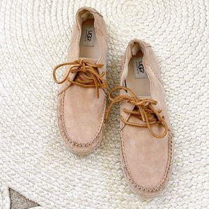 Ugg Azin Moccasin Loafer Shoe Chestnut Brown